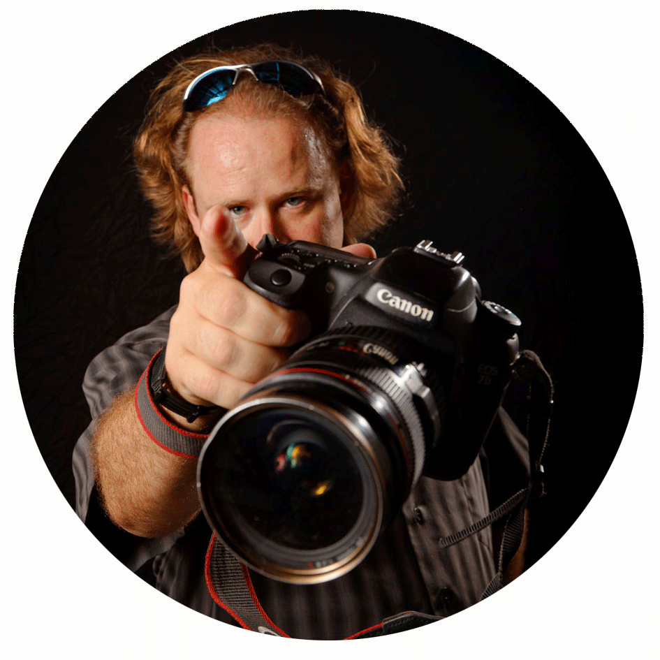 Barton Glasser holding camera